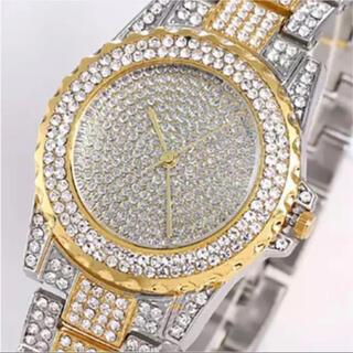 新品 ラグジュアリーアイスアウトウォッチ ジュエリー CZ コンビ メンズ腕時計