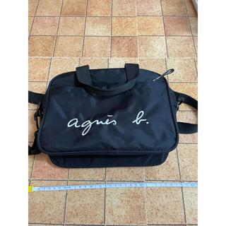 agnes b. - アニエス・ベー GL11 E BAG ロゴ2wayバッグ ブラック
