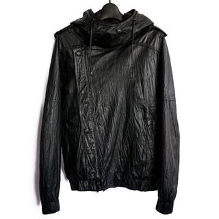 ロエン(Roen)の定価15.4万★Roen レザー製ライダースジャケット パーカー ブルゾン(レザージャケット)
