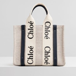 【S】Chloe クロエ woody トートバッグ 黒+黒いフォント