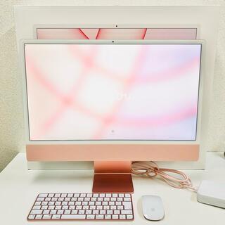 Mac (Apple) - care有り iMac 24インチ M1 ピンク 4.5K 256GB 8GB