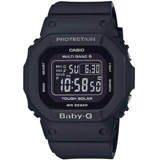 カシオ BABY-G クラシカルデザイン 電波ソーラー 腕時計 オールブラック