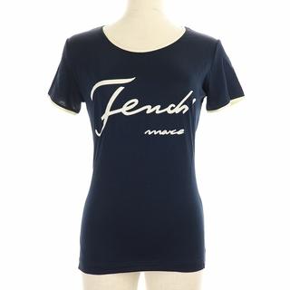 フェンディ(FENDI)のフェンディ Tシャツ カットソー ヴィンテージ ロゴ レーヨン 40 L 紺(その他)