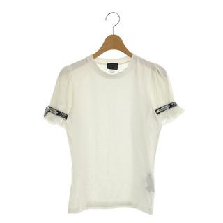 フェンディ(FENDI)のフェンディ FENDI カットソー 半袖 ロゴリボン 42 白 ホワイト(その他)