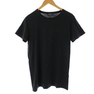 バルマン(BALMAIN)のバルマン Tシャツ カットソー 半袖 無地 エイジング加工 S チャコール(Tシャツ/カットソー(半袖/袖なし))