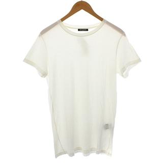 バルマン(BALMAIN)のバルマン Tシャツ カットソー 半袖 クルーネック エイジング加工 XS 白(Tシャツ/カットソー(半袖/袖なし))
