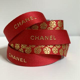 CHANEL - CHANEL ラッピング リボン レッド×ゴールド 1m