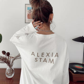 ALEXIA STAM - alexiastam ロンT ❤︎アリシアスタン バックロゴロンT❤︎バッグ