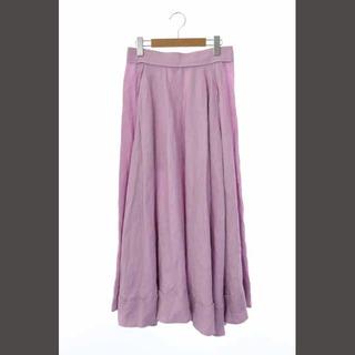 マディソンブルー(MADISONBLUE)のマディソンブルー リネンタックサーキュラースカート ロング フレア 02 紫(ロングスカート)