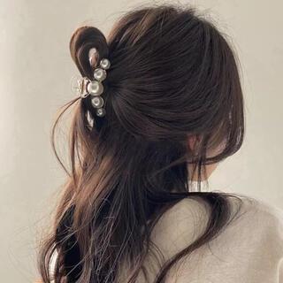 【新品未使用】韓国 パール バレッタ ヘアクリップ ♡♡ 7cm ♡♡⑥