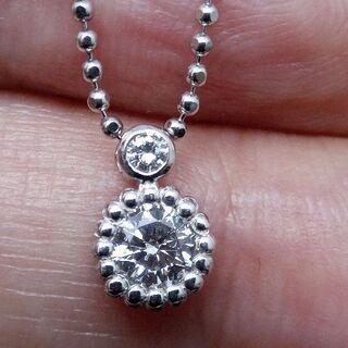 1つは欲しい!ラウンドカットのダイヤです!P900/850ダイヤネックレス(ネックレス)