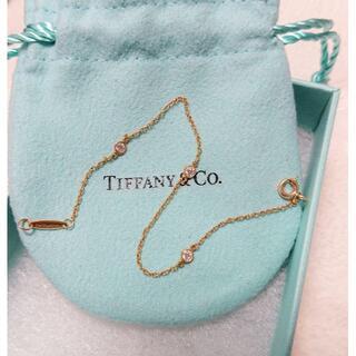 Tiffany & Co. - Tiffany バイザヤード K18 ブレスレット 3ポイント ダイヤ