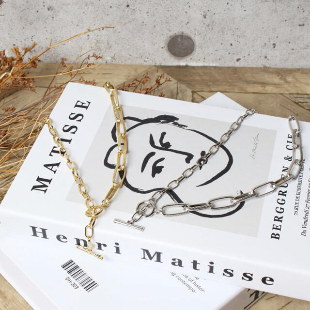 Ameri VINTAGE(アメリヴィンテージ)の340◇残り3点‼️ ヴィンテージ マンテル チェーン ネックレス  シルバー レディースのアクセサリー(ネックレス)の商品写真