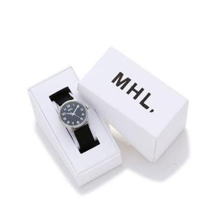腕時計 MHL. LEATHER STRAP WATCH