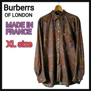 BURBERRY - 【美品・希少】Burberrs バーバリーズ  ペイズリー柄 シャツ フランス製