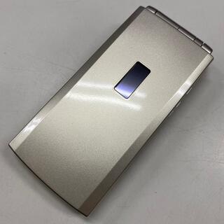 エヌティティドコモ(NTTdocomo)のドコモ 中古美品 F-10B ゴールド ガラケー(携帯電話本体)