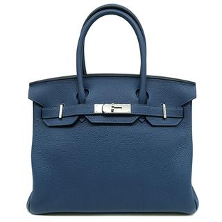 Hermes - エルメス  ハンドバッグ  バーキン 30  D刻印 ブルー