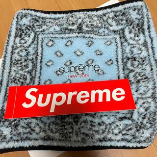 Supreme - Supreme Bandana Fleece Neck Gaiter Blue