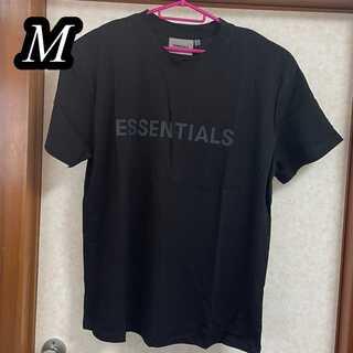フィアオブゴッド(FEAR OF GOD)の新品 FEAR OF GOD ESSENTIALS フロントラバーロゴ ブラック(Tシャツ/カットソー(半袖/袖なし))