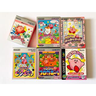 ゲームボーイ(ゲームボーイ)のゲームボーイ カービィ6本セット 星のカービィ Gameboy GB Kirby(携帯用ゲームソフト)