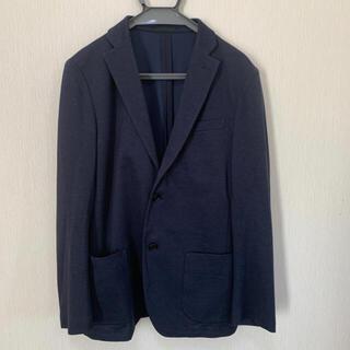 UNIQLO - ユニクロ ジャケット/ノーカラージャケット/紺色