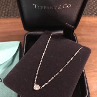 Tiffany & Co. - 未使用★Tiffanyバイザヤードネックレス★0.19ct プラチナ