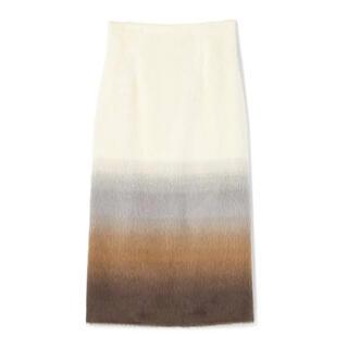 ESTNATION - 【新品 タグ付き】ESTNATION グラデーションウールシャギータイトスカート
