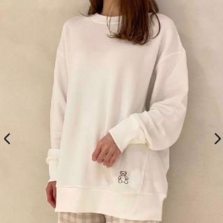 gelato pique - ジェラートピケ♡kotokaizumiベア刺繍プルオーバー