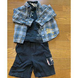 バーバリー(BURBERRY)のバーバリー 半袖トップス パンツ セットアップ フォーマル(Tシャツ/カットソー)