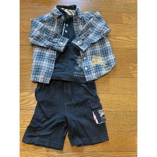 バーバリー(BURBERRY)のバーバリー チェックシャツ 100(カーディガン)