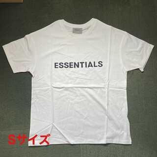 フィアオブゴッド(FEAR OF GOD)のESSENTIALS ロゴ Tシャツ ホワイト Sサイズ FOG(Tシャツ/カットソー(半袖/袖なし))