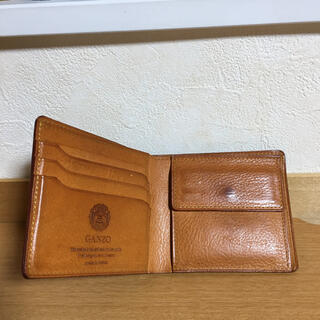 GANZO - 希少 GANZO ミネルバナチュラル 薄型二つ折り財布