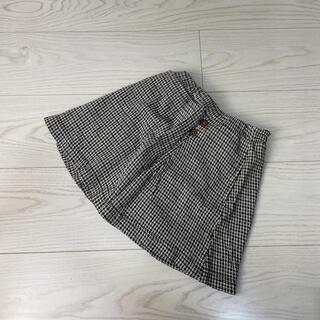 petit main - 【美品】プティマイン 千鳥柄 スカート パンツ