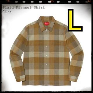 Supreme - Supreme Plaid Flannel Shirt 21AW olive L