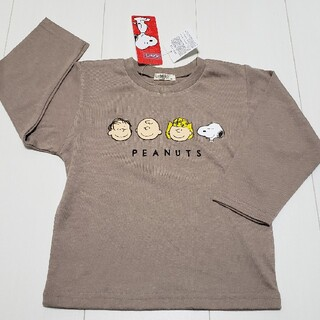 スヌーピー(SNOOPY)の新品タグ付きスヌーピーSNOOPY長袖Tシャツ90センチPEANUTSロンT(Tシャツ/カットソー)