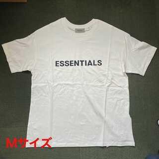フィアオブゴッド(FEAR OF GOD)のESSENTIALS ロゴ Tシャツ ホワイト Mサイズ FOG(Tシャツ/カットソー(半袖/袖なし))