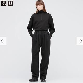 UNIQLO - 【新品・試着のみ】スウェットギャザーパンツ ブラック Sサイズ
