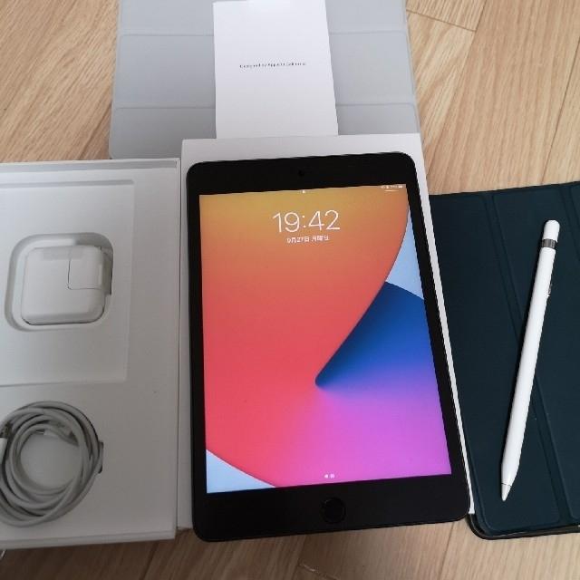 Apple(アップル)のiPad mini5 64GB WiFi ApplePencil カバー付 スマホ/家電/カメラのPC/タブレット(タブレット)の商品写真