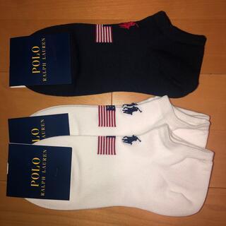 ポロラルフローレン(POLO RALPH LAUREN)のポロラルフローレン 靴下 星条旗(ソックス)