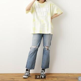 ロデオクラウンズワイドボウル(RODEO CROWNS WIDE BOWL)の新品 Solid tie dye Tシャツ(Tシャツ/カットソー(七分/長袖))