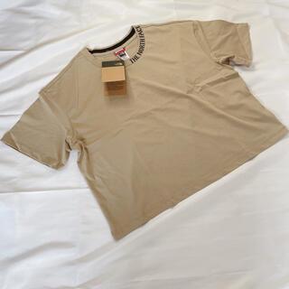 ザノースフェイス(THE NORTH FACE)のノースフェイス レディース Tシャツ ロゴショート又 ベージュ ML(Tシャツ(半袖/袖なし))