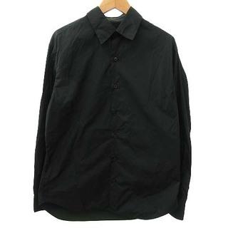 プラダ(PRADA)のプラダ PRADA ナイロン シャツ 長袖 ボタン 無地 40 M 深緑(シャツ)