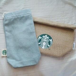 スターバックスコーヒー(Starbucks Coffee)のスタバスターバックス福袋2021ジュートランチバッグマルチミニバッグデニムブルー(弁当用品)