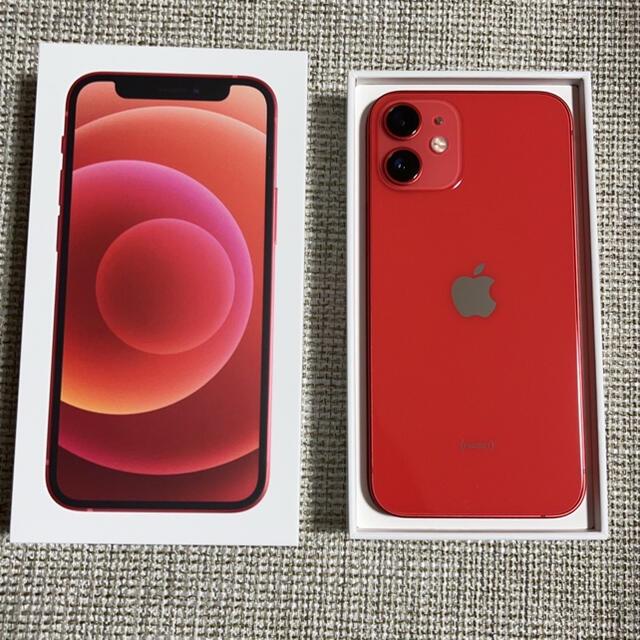 Apple(アップル)のiPhone 12 mini レッド 128 GB SIMフリー スマホ/家電/カメラのスマートフォン/携帯電話(スマートフォン本体)の商品写真