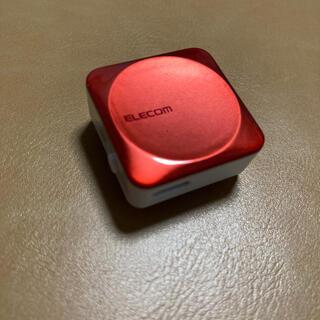 エレコム(ELECOM)のエレコム Bluetoothレシーバー レッド LBT-PAR01AVRD(ヘッドフォン/イヤフォン)