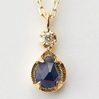 agete - agete アガット k10 サファイア ダイヤモンド ネックレス