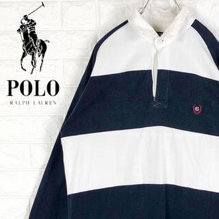 ラルフローレン(Ralph Lauren)のチャップス ラガーシャツ 太ボーダー ワンポイント刺繍胸ロゴ ゆるだぼ長袖90s(ポロシャツ)