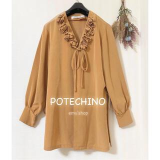 PINK HOUSE - ポテチーノ ◆ フラワーモチーフチュニック ◆ さえら
