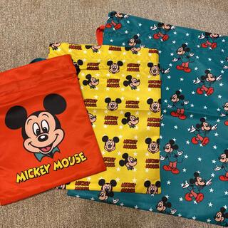 Disney - レトロミッキー 巾着 3個セット