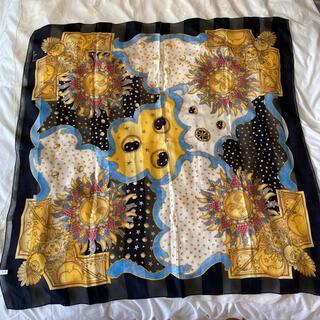 アメリヴィンテージ(Ameri VINTAGE)のvintageレトロ♦︎太陽/シルク個性的スカーフ(バンダナ/スカーフ)